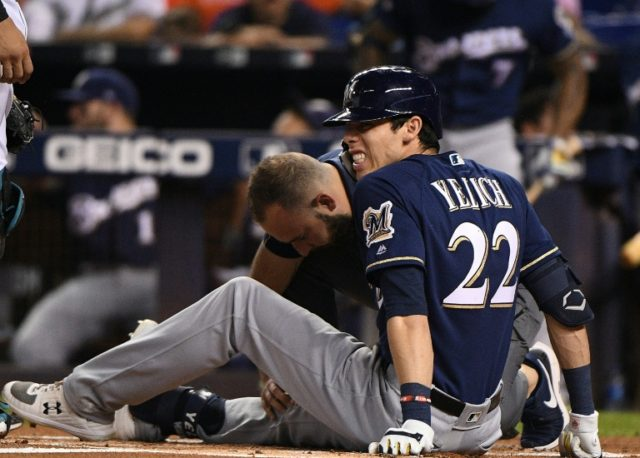 Yelich out for season after freak knee injury - Breitbart