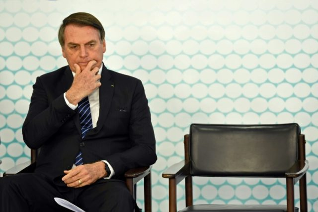 Bolsonaro feeding via nasal tube following surgery