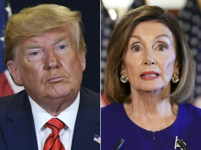 US House Speaker Nancy Pelosi (right) said there was now strong evidence of US President Donald Trump's wrongdoing