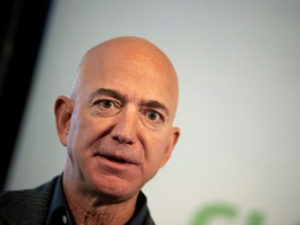 Amazon Founder and CEO Jeff Bezos speaks on company sustainability efforts on September 19, 2019 in Washington; Amazon is the latest company to be sued under a US law for profiting from property seized by Cuba's communist government after the 1959 revolution
