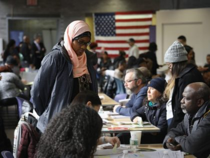 """NEW YORK, NY - FEBRUARY 03: Immigrants receive assistance with their U.S. citizenship applications at a Citizenship Now! event on February 3, 2018 in New York City. The event, held by the City University of New York (CUNY), assisted more than 100 U.S. permanent residents or """"green card"""" holders with …"""