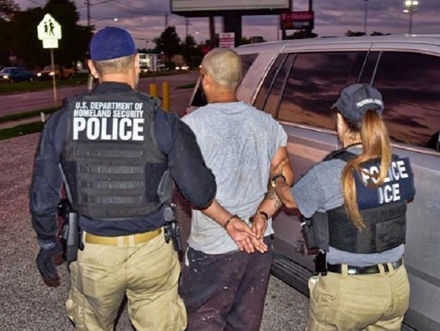 Houston ICE ERO officers arrest a four-time deported criminal alien. (Photo: ICE/ERO Houston)