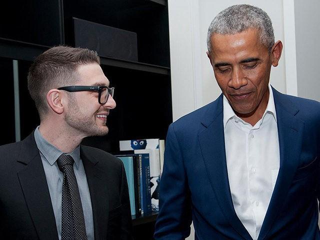 Alexander Soros and former President Barack Obama.