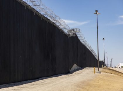 Border Wall near the Calexico Port of Entry