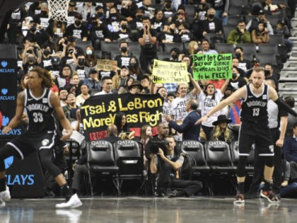 Fans Support Hong Kong, Tibet at Nets' 1st Game Since China