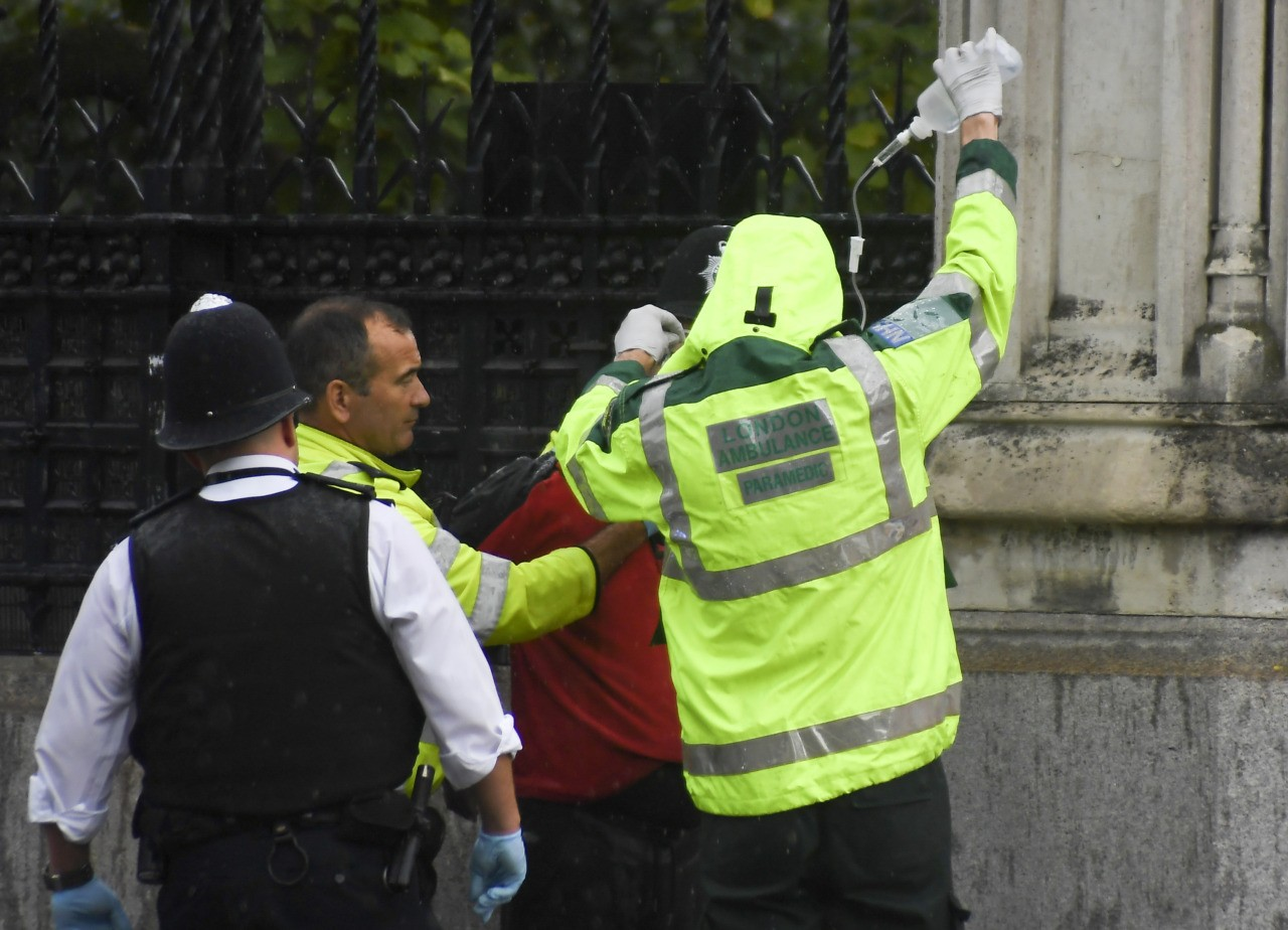 Man held outside UK parliament in `petrol` incident