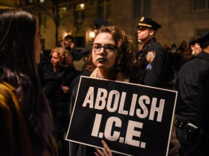 Abolish ICE protester