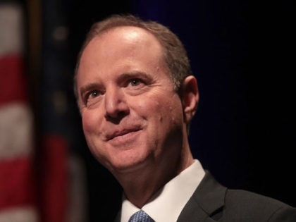 CHICAGO, ILLINOIS - OCTOBER 03: Rep. Adam Schiff (D-CA) delivers a lecture on The Threat to Liberal Democracy at Home and Abroad at Cahn Auditorium on the campus of Northwestern University on October 03, 2019 in Chicago, Illinois. Schiff is Chairman of the House Intelligence Committee. (Photo by Scott Olson/Getty …