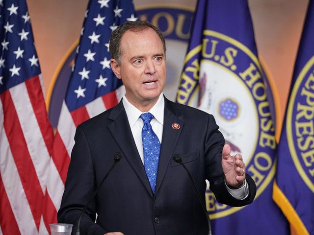 House Intelligence Committee Chair Adam Schiff speaks at the US Capitol in Washington, DC on September 25, 2019. - US Democrats' explosive launch of an official impeachment inquiry of Donald Trump has set off a massive political battle, raising multiple questions about the process and its consequences for the Republican's …