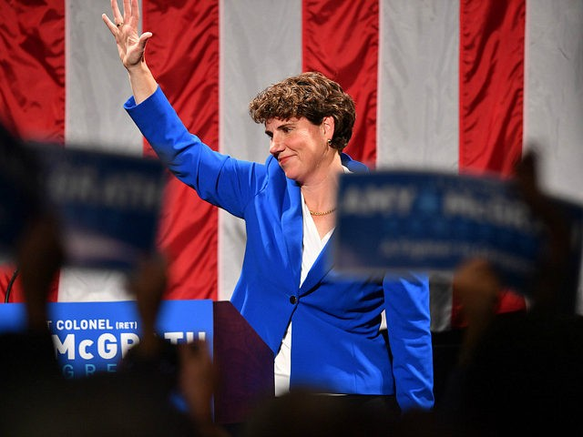 RICHMOND, KENTUCKY - NOVEMBER 06: Amy McGrath address supporters after her loss during her Election Night Event at the EKU Center for the Arts on November 6, 2018 in Richmond, Kentucky. (Photo by Jason Davis/Getty Images)