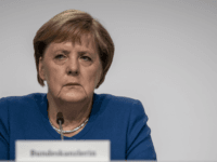 "BERLIN, GERMANY - SEPTEMBER 20: German Chancellor Angela Merkel attends a press conference following a meeting of the ""climate protection"" government cabinet commission at the Futurium museum on September 20, 2019 in Berlin, Germany. The commission formulated a policy package on bringing down CO2 emissions in Germany. While Germany has …"