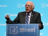 Bernie Sanders at J Street (Mark Wilson / Getty)