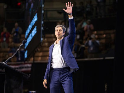 MANCHESTER, NH - SEPTEMBER 07: Democratic presidential candidate, former Rep. Beto O'Rourke (D-TX) takes the stage during the New Hampshire Democratic Party Convention at the SNHU Arena on September 7, 2019 in Manchester, New Hampshire. Nineteen presidential candidates will be attending the New Hampshire Democratic Party convention for the state's …