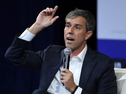 LAS VEGAS, NEVADA - OCTOBER 02: Democratic presidential candidate, former U.S. Rep. Beto O'Rourke (D-TX) speaks during the 2020 Gun Safety Forum hosted by gun control activist groups Giffords and March for Our Lives at Enclave on October 2, 2019 in Las Vegas, Nevada. Nine Democratic candidates are taking part …