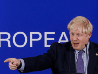 Britain's Prime Minister Boris Johnson addresses a press conference during an European Union Summit at European Union Headquarters in Brussels on October 17, 2019. (Photo by THIERRY ROGE / Belga / AFP) / Belgium OUT (Photo by THIERRY ROGE/Belga/AFP via Getty Images)