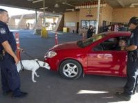 CBP K-9 team inspectes a vehicle at the Hidalgo-Reynosa International Bridge in South Texas. (Photo: U.S. Customs and Border Protection)