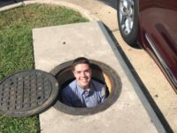 Chick-fil-A employee climbs down manhole for customer
