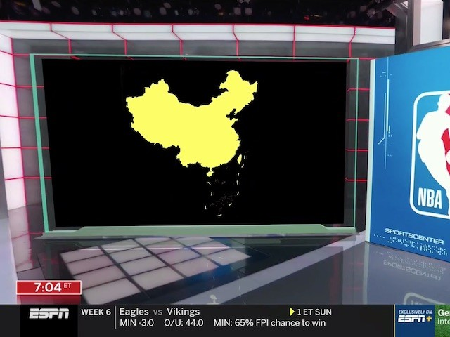 ESPN Uses Illegal Communist Map of 'China' in NBA Report