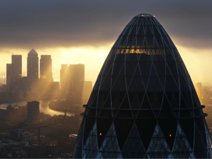 LONDON - FEBRUARY 25: The sun rises over the City of London on February 25, 2010 in London, United Kingdom. As the UK gears up for one of the most hotly contested general elections in recent history it is expected that that the economy, immigration, the NHS and education are …
