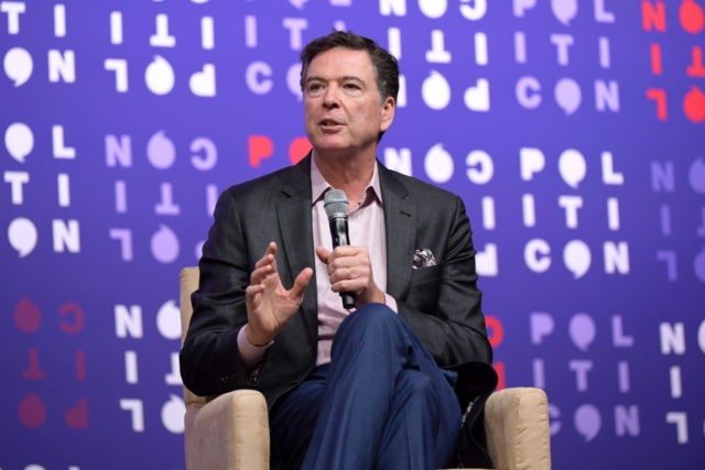 NASHVILLE, TENNESSEE - OCTOBER 26: James Comey speaks onstage during the 2019 Politicon at Music City Center on October 26, 2019 in Nashville, Tennessee. (Photo by Jason Kempin/Getty Images for Politicon )