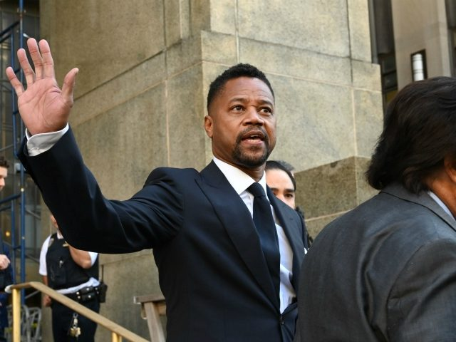 Oscar-winning actor Cuba Gooding Jr. departs his court arraignment in New York on October 15, 2019, where new charges are to be unsealed on his sexual assault case. - Gooding has previously been charged with forcible touching and sex abuse in relation to an alleged groping incident at a New …