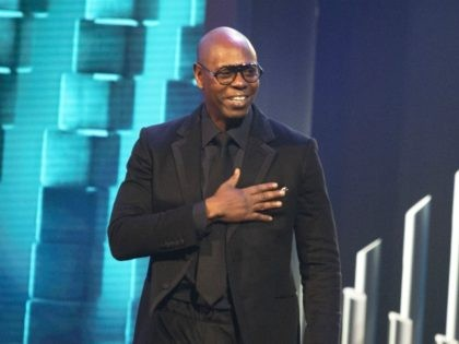 Dave Chappelle is honored with the Mark Twain Prize for American Humor at the Kennedy Center for the Performing Arts on Sunday, Oct. 27, 2019, in Washington. (Photo by Owen Sweeney/Invision/AP)