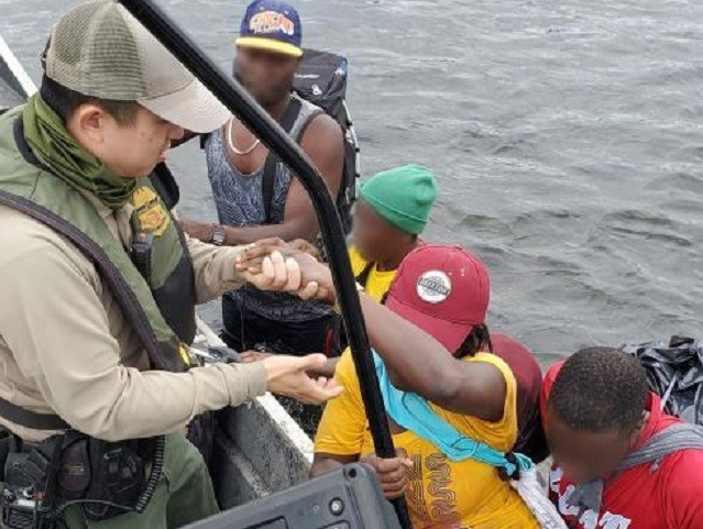 Del Rio Station Border Patrol agents rescue six Haitian migrants from Rio Grande. (Photo: U.S. Border Patrol/Del Rio Sector)