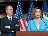 Speaker of the House Nancy Pelosi, D-Calif., is joined by House Intelligence Committee Chairman Adam Schiff, D-Calif., at a news conference as House Democrats move ahead in the impeachment inquiry of President Donald Trump, at the Capitol in Washington, Wednesday, Oct. 2, 2019. In an unusual show of anger today, …