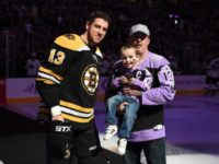 Mighty Quinn at a Boston Bruins game