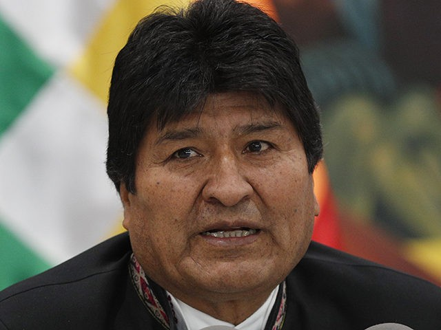 Bolivia's President Evo Morales speaks during a press conference at the presidential palace in La Paz, Bolivia, Wednesday, Oct. 23, 2019. International election monitors expressed concern over Bolivia's presidential election process Tuesday after an oddly delayed official quick count showed President Morales near an outright first-round victory — even as …