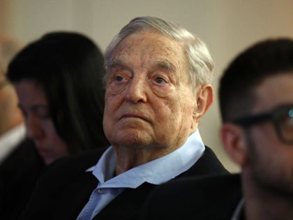 George Soros, Founder and Chairman of the Open Society Foundations attends the European Council On Foreign Relations Annual Council Meeting conference in Paris, Tuesday, May 29, 2018. (AP Photo/Francois Mori)