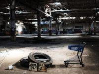 "WATERBURY, CT - OCTOBER 21: The remaining interior of a shuttered factory connected to the brass industry stands in what was once a vibrant manufacturing city on October 21, 2018 in Waterbury, Connecticut. Known as ""Brass City"", Waterbury, like many manufacturing cities in America, started to see a decline in …"