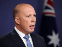 Home Affairs Peter Dutton speaks during a press conference on November 22, 2018 in Sydney, Australia. The Federal Government is considering changes to allow Australian-born extremists to be stripped of their citizenship if they are entitled to citizenship in another country. (Photo by Cameron Spencer/Getty Images)