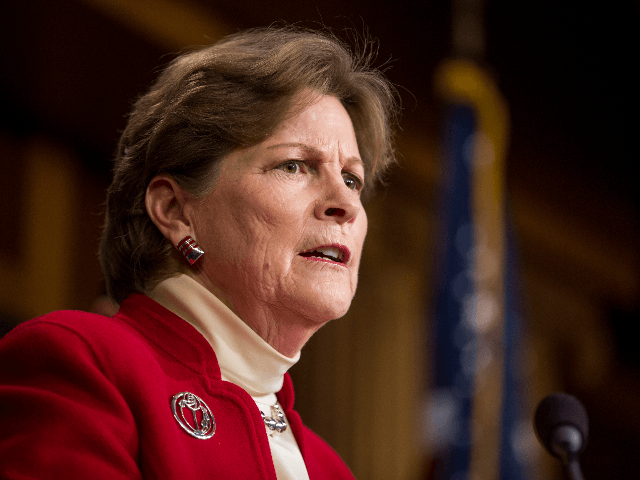 Sen. Jeanne Shaheen (D-NH) speaks during a news conference discussing discuss a resolution to end U.S. military support for Saudi Arabia's war with Yemen on Capitol Hill on December 12, 2018 in Washington, DC. (Photo by Zach Gibson/Getty Images)