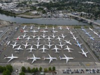 SEATTLE, WA - JUNE 27: Boeing 737 MAX airplanes are stored on employee parking lots near Boeing Field, on June 27, 2019 in Seattle, Washington. After a pair of crashes, the 737 MAX has been grounded by the FAA and other aviation agencies since March, 13, 2019. The FAA has …