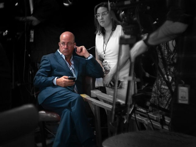 Jeff Zucker, President of CNN, watches productions in the spin room after the second debate among Democratic hopefuls for a nomination in the 2020 US presidential election at Fox Theater July 30, 2019, in Detroit, Michigan. (Photo by Brendan Smialowski / AFP) (Photo credit should read BRENDAN SMIALOWSKI/AFP/Getty Images)