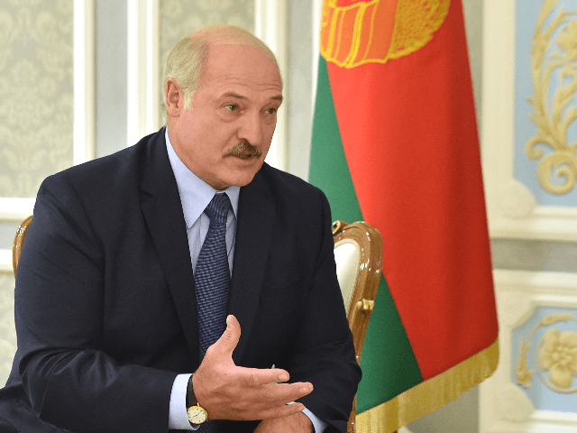 Belarus President Alexander Lukashenko speaks with US National Security Advisor during a meeting in Minsk on August 29, 2019. (Photo by Sergei GAPON / AFP) (Photo credit should read SERGEI GAPON/AFP/Getty Images)