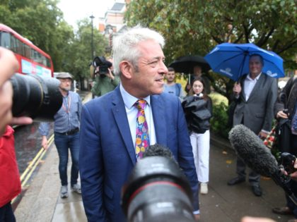 LONDON, ENGLAND - SEPTEMBER 24: House of Commons John Bercow speaks to the media following the Supreme Court ruling that the current suspension of parliament is unlawful one on September 24, 2019 in London, England. The court's unanimous decision said that Prime Minister Boris Johnson acted unlawfully when he sought …