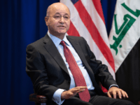 Barham Saleh, President of Iraq, holds a meeting with US President Donald Trump (not pictured) in New York, September 24, 2019, on the sidelines of the United Nations General Assembly. (Photo by SAUL LOEB / AFP) (Photo credit should read SAUL LOEB/AFP/Getty Images)