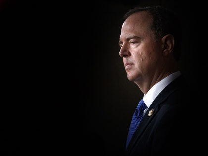 WASHINGTON, DC - OCTOBER 02: House Intelligence Committee Chairman Adam Schiff (D-CA) looks on during a weekly news conference held by House Speaker Nancy Pelosi (D-CA) on October 2, 2019, on Capitol Hill in Washington, DC. Pelosi and Schiff updated members of the media on the latest developments related to …