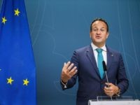 Ireland's Taoiseach, prime minister, Leo Varadkar gives a press conference following a meeting with Swedish Prime Minister on October 3, 2019 in Stockholm. (Photo by Jonathan NACKSTRAND / AFP) (Photo by JONATHAN NACKSTRAND/AFP via Getty Images)