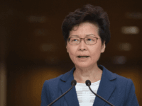 Hong Kong Chief Executive Carrie Lam takes part in her weekly press conference in Hong Kong on October 8, 2019. - Semi-autonomous Hong Kong has been battered by four months of increasingly violent pro-democracy protests sparked by opposition to a now-scrapped bill allowing extraditions to China. (Photo by Nicolas ASFOURI …