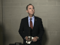 Adam Schiff (D-CA), Chairman of the House Select Committee on Intelligence Committee speaks to the media before a closed-door meeting regarding the ongoing impeachment inquiry against US President Donald Trump at the US Capitol October 8, 2019 in Washington,DC. (Photo by Olivier Douliery / AFP) (Photo by OLIVIER DOULIERY/AFP via …