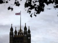 A Union flag flies from a pole atop the Victoria Tower at the Houses of Parliament in London on October 9, 2019. - Brexit talks between Britain and the European Union teetered on the brink of collapse on Tuesday, with tit-for-tat claims of intransigence and sabotage before an end of …