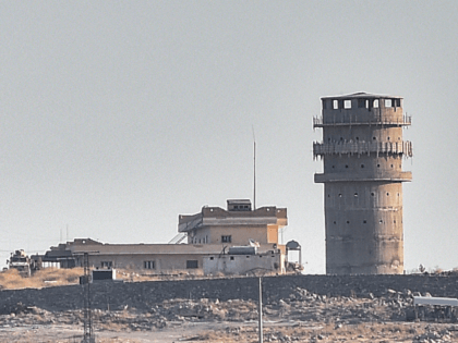 """This picture taken on October 12, 2019 from Turkey near the town of Suruc shows a US observation post near the Syrian town of Kobani Kobane where the Pentagon said an explosion occurred """"within a few hundred meters."""" - The US said on October 11, 2019 its troops had come …"""