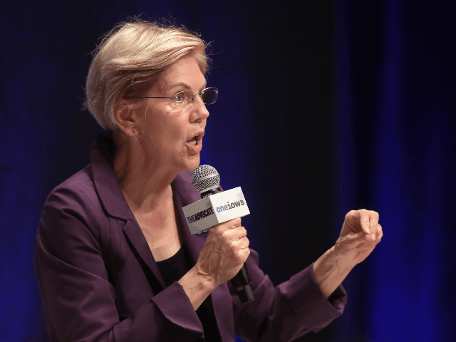 Democratic presidential candidate Massachusetts Senator Elizabeth Warren speaks at an LGBTQ presidential forum at Coe College's Sinclair Auditorium on September 20, 2019 in Cedar Rapids, Iowa. The event is the first public event of the 2020 election cycle to focus entirely on LGBTQ issues. (Photo by Scott Olson/Getty Images) (Photo …