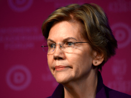 """Democratic Presidential hopeful Massachusetts Senator Elizabeth Warren pauses as she speaks at a fundraiser at the """"Women's Leadership Forum"""" in Washington, DC on October 17, 2019. (Photo by Andrew CABALLERO-REYNOLDS / AFP) (Photo by ANDREW CABALLERO-REYNOLDS/AFP via Getty Images)"""