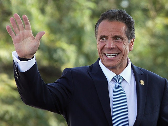ELMONT, NEW YORK - SEPTEMBER 23: New York Gov. Andrew Cuomo arrives for the groundbreaking ceremony for the New York Islanders hockey arena at Belmont Park on September 23, 2019 in Elmont, New York. The $1.3 billion facility, which will seat 19,000 and include shops, restaurants and a hotel, is …