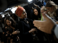 Rep. Ilhan Omar (D-MN) answers questions from reporters after leaving a House Democratic caucus meeting at the U.S. Capitol where formal impeachment proceedings against U.S. President Donald Trump were announced by Speaker of the House Nancy Pelosi September 24, 2019 in Washington, DC. Pelosi announced a formal impeachment inquiry after …