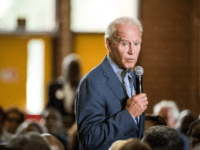 Democratic presidential candidate, former vice President Joe Biden addresses a crowd at Wilson High School on October 26, 2019 in Florence, South Carolina. Many presidential hopefuls campaigned in the early primary state over the weekend, scheduling stops around a criminal justice forum in the state capital. (Photo by Sean Rayford/Getty …